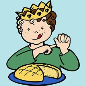 Coloriages piphanie et galette des rois sans d passer - Tchoupi galette ...