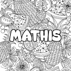 Coloriage prénom MATHIS - Sans Dépasser