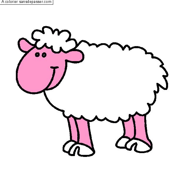 【Meilleur sélectionné】 Coloriage Mouton à Imprimer