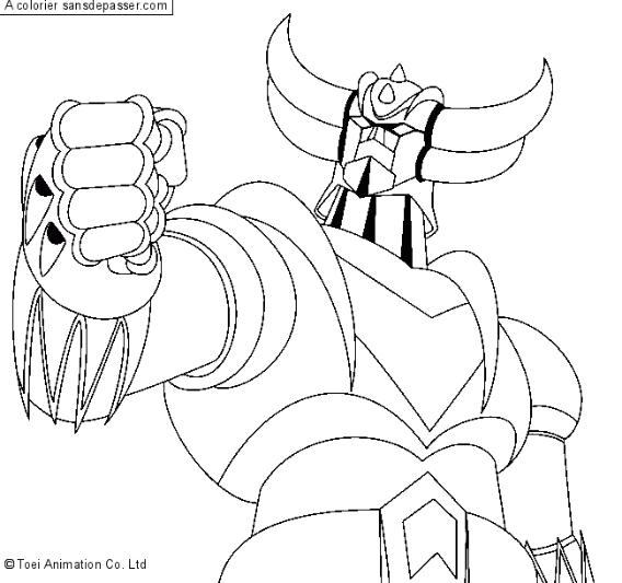 Coloriage Goldorak le robot - Sans Dépasser