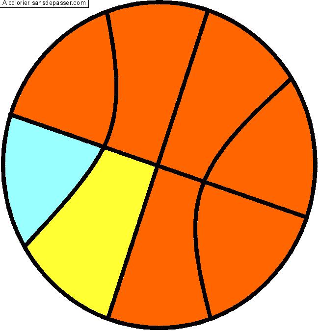 Image Coloriage Ballon.Dessin Colorie Ballon De Basket Par Un Invite Sans Depasser