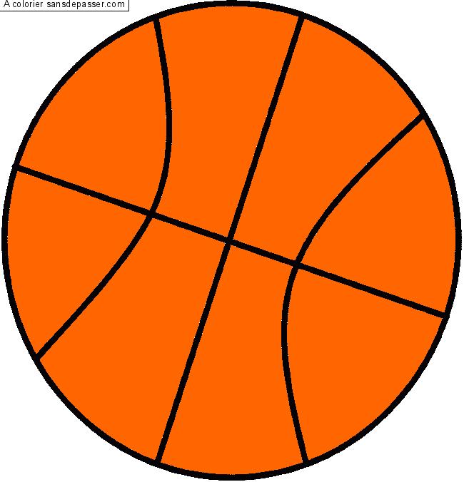 Coloriage ballon de basket sans d passer - Comment degonfler un ballon ...