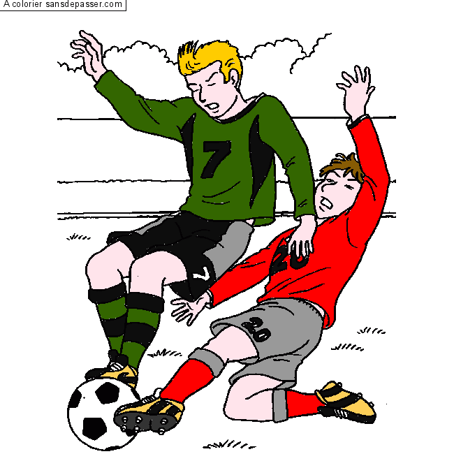 Coloriage Match De Football.Coloriage Match De Football Sans Depasser