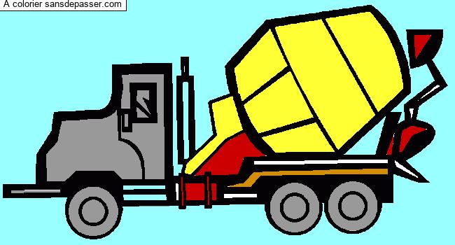 Coloriage Camion toupie - Sans Dépasser