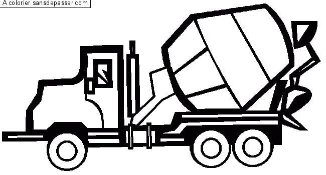 Dessin Camion Benne Coloriage.Coloriage Camion Toupie Sans Depasser