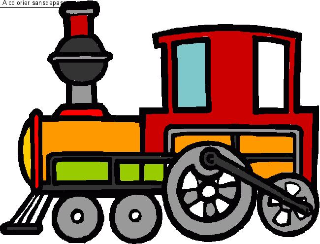 Dessin colori locomotive vapeur par un invit sans - Locomotive dessin ...