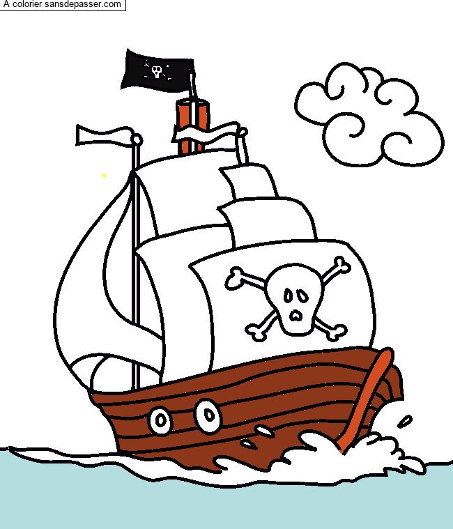 Dessin Colorie Bateau Pirate Par Sans Depasser Girl