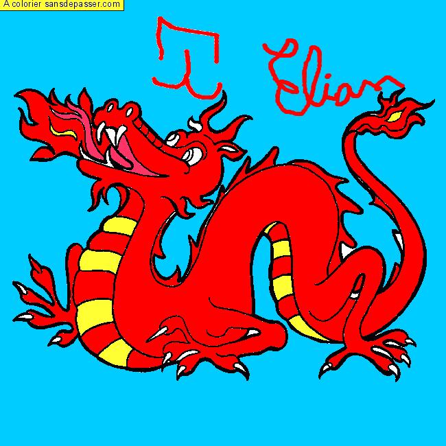 Coloriage dragon chinois sans d passer - Dessins dragons chinois ...