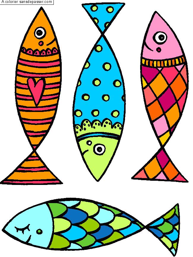 Coloriage poisson des fonds marins sans d passer - Dessin de poisson ...