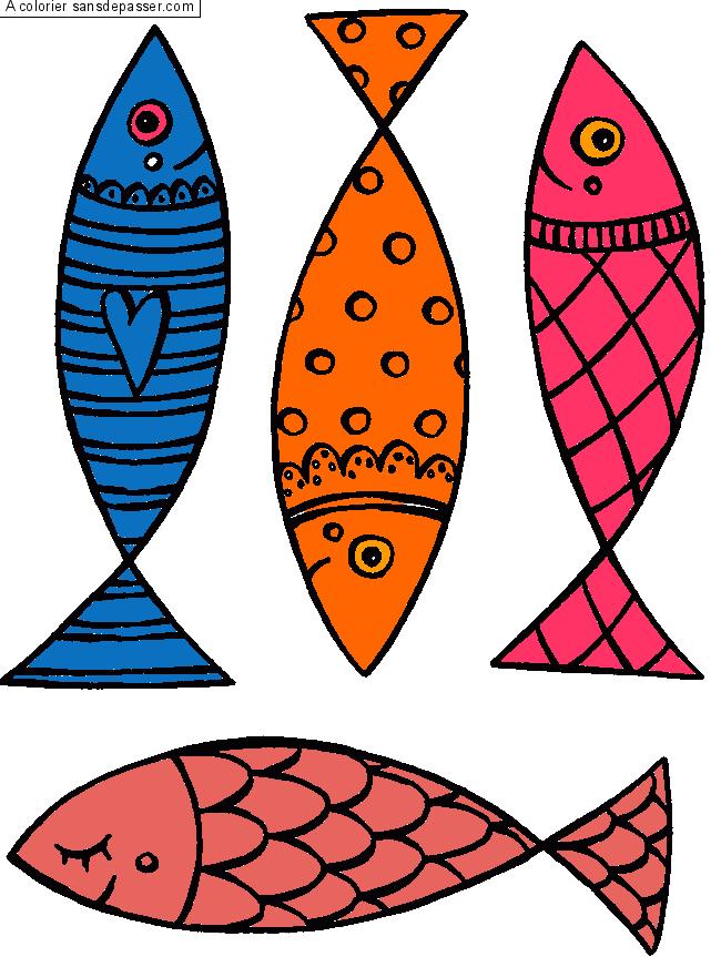 Coloriage poisson qui fait des bulles sans d passer - Poisson dessin couleur ...