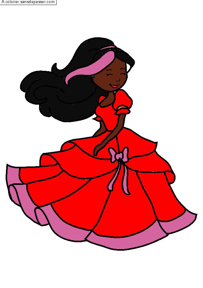 Coloriage Princesse Qui Danse Avec Prince.Coloriage Princesse Qui Danse Sans Depasser