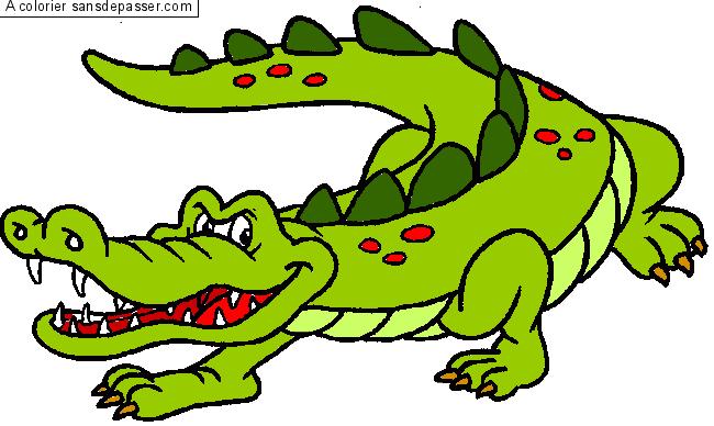 Dessin Colorié Crocodile Par Un Invité Sans Dépasser
