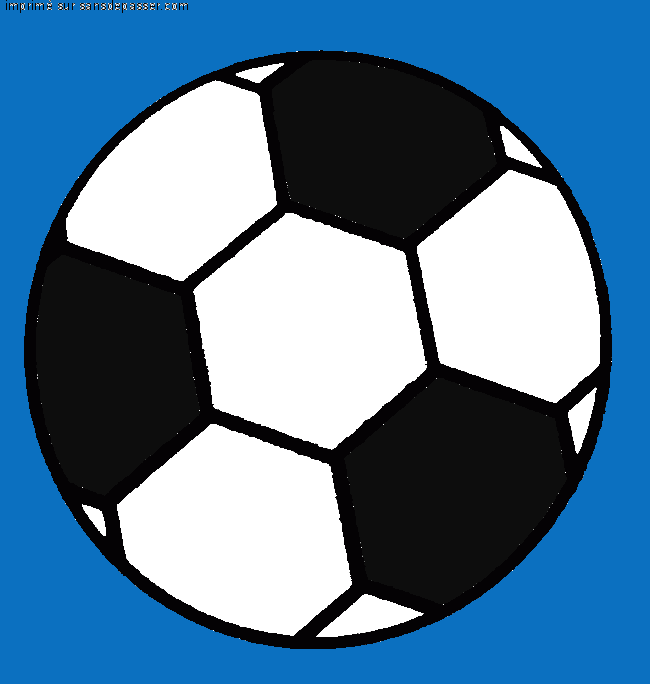 Coloriage ballon de foot en ligne - Coloriage ballon foot ...