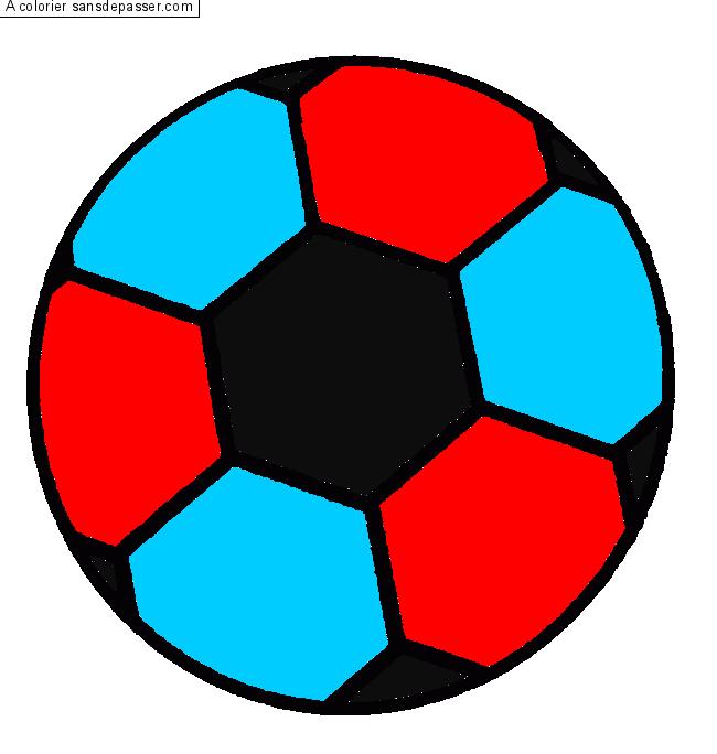 Dessin Colorie Ballon De Foot Par Raphou Sans Depasser