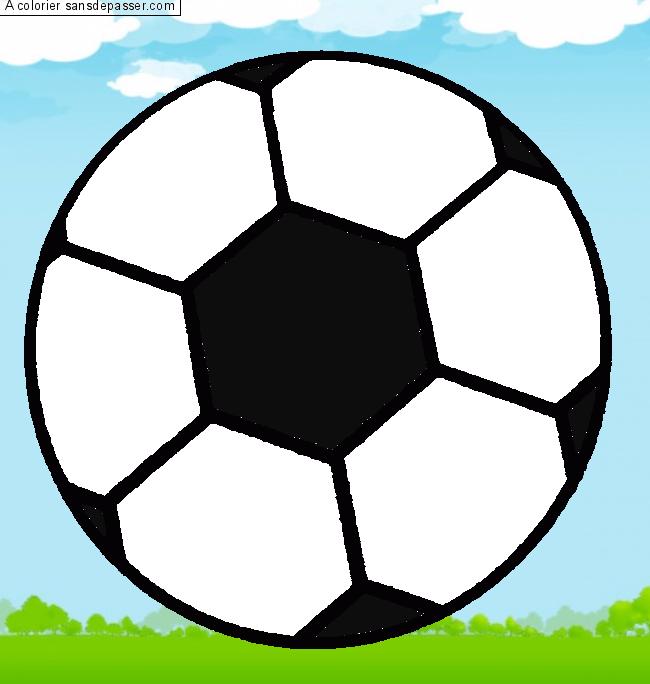 Coloriage Ballon De Foot Sans Dépasser