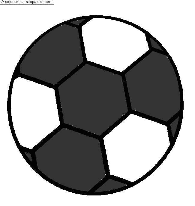 Coloriage ballon de foot sans d passer - Coloriage ballon foot ...