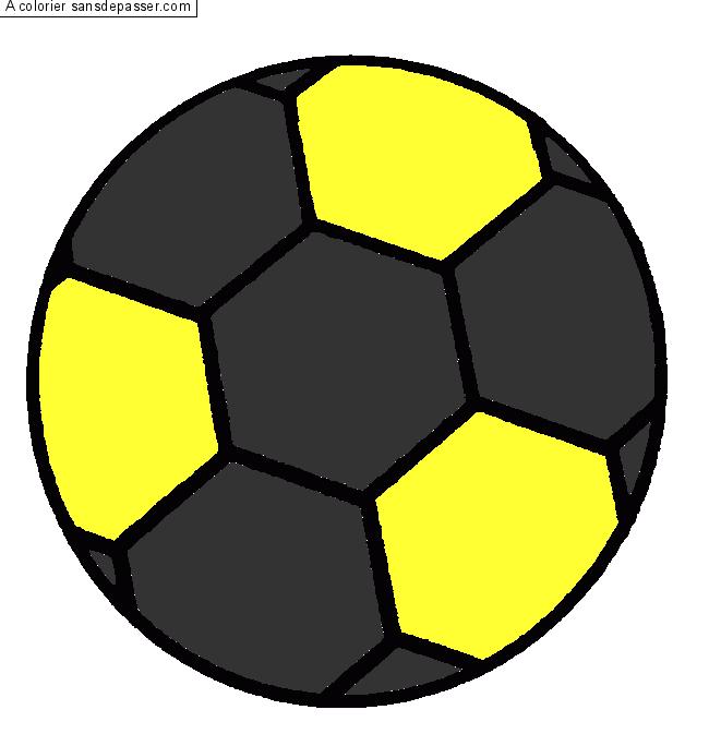 Coloriage ballon de foot sans d passer - Dessin de ballon ...