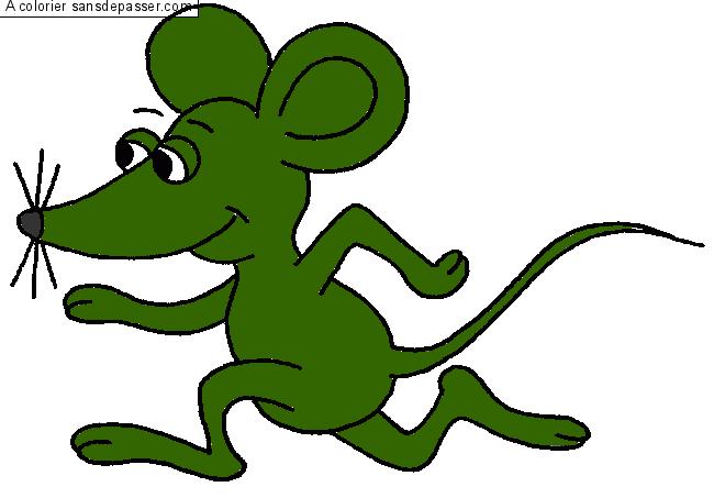 Coloriage petite souris au clair de lune sans d passer - Une souris verte singe ...