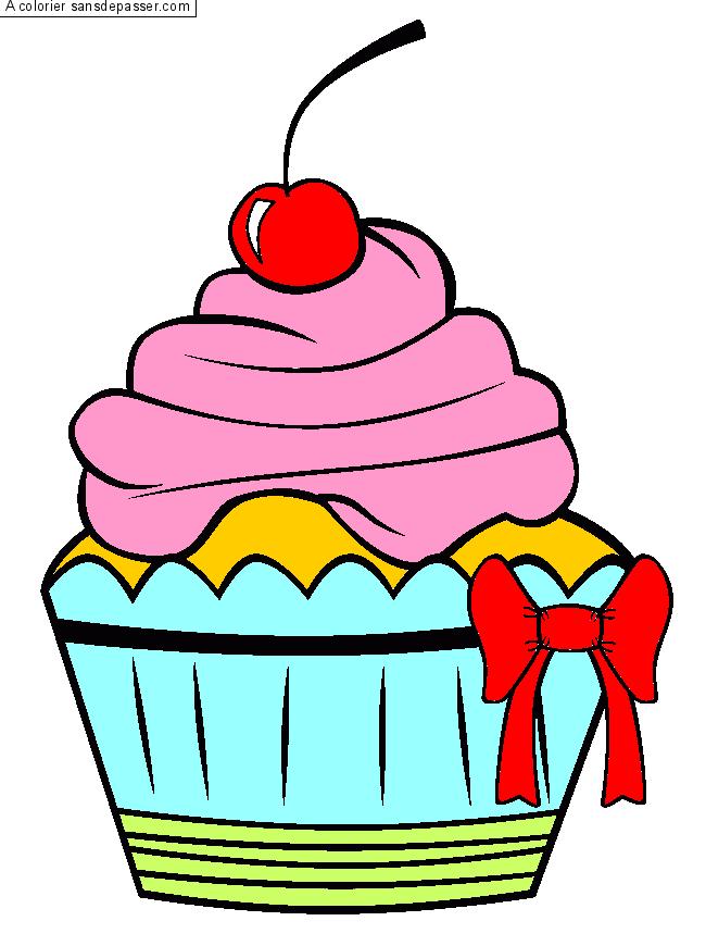 Dessin colori cupcake la cerise par deydey97 sans - Dessert dessin ...