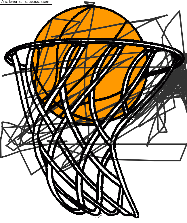 Coloriage Panier De Basketball Sans Depasser
