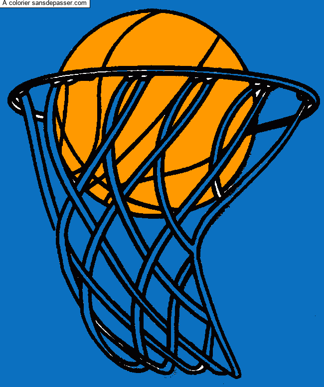 Coloriage Panier de basketball - Sans Dépasser