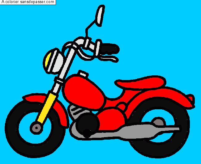coloriage moto sans d passer. Black Bedroom Furniture Sets. Home Design Ideas