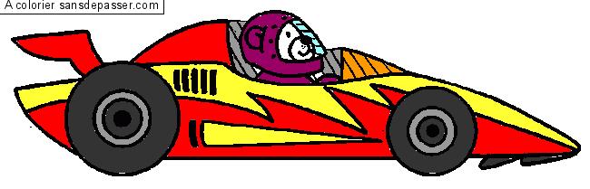 Coloriage Voiture de course - Sans Dépasser
