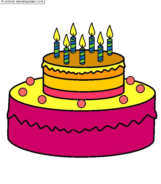 Dessin gateau anniversaire dessin gateau anniversaire a imprimer inspirations et coloriage de - Gateaux anniversaire dessin ...