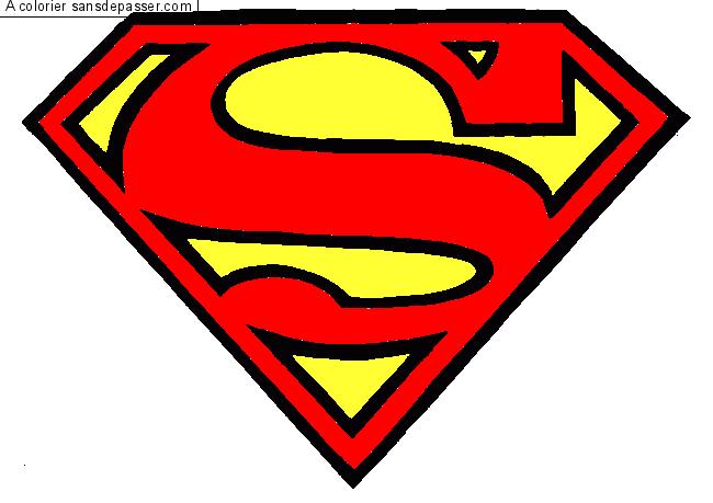 coloriage logo superman par un invit