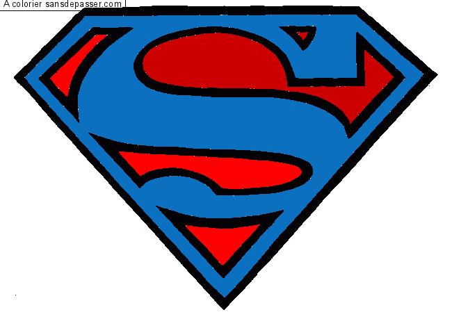 Dessin Colorié Logo Superman Par Un Invité Sans Dépasser