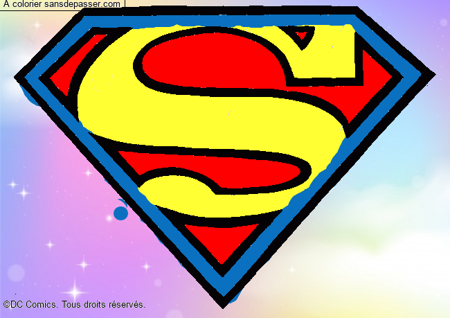 Coloriage Logo Superman Sans Dépasser