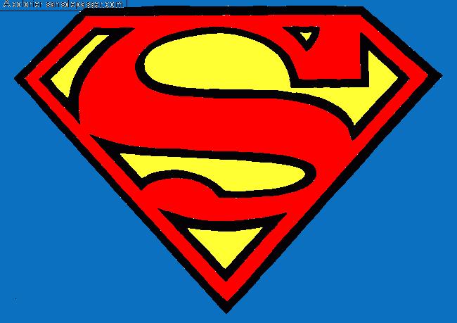 Dessin Colorié : Logo Superman Par Un Invité