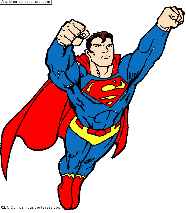Coloriage vole superman sans d passer - Coloriage en ligne superman ...