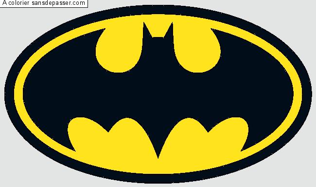 Dessin Colorié : Logo Batman Par Un Invité