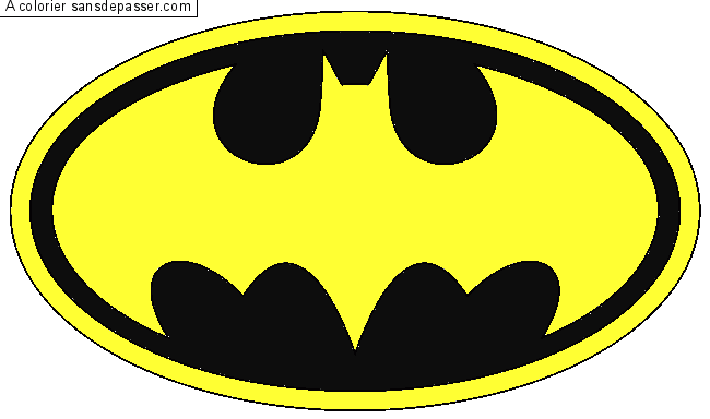 Coloriage Signe Batman.Coloriage Logo Batman Sans Depasser
