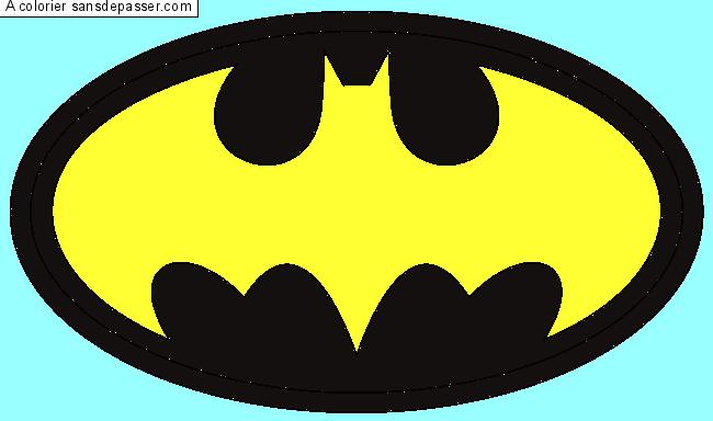 Dessin Colorié : Logo Batman Par Trolls