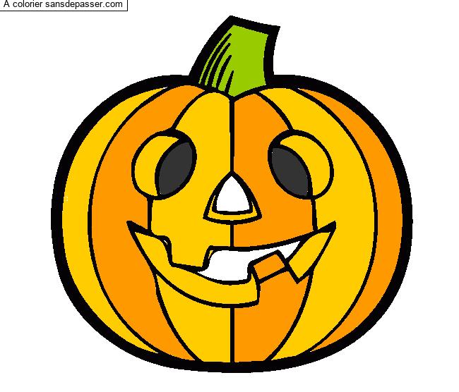 Dessin Colorie Citrouille D Halloween Par Nanatita Sans Depasser