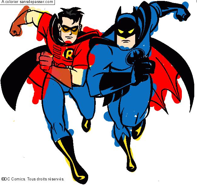 Dessin Colorie Batman Et Robin Par Hasan Sans Depasser