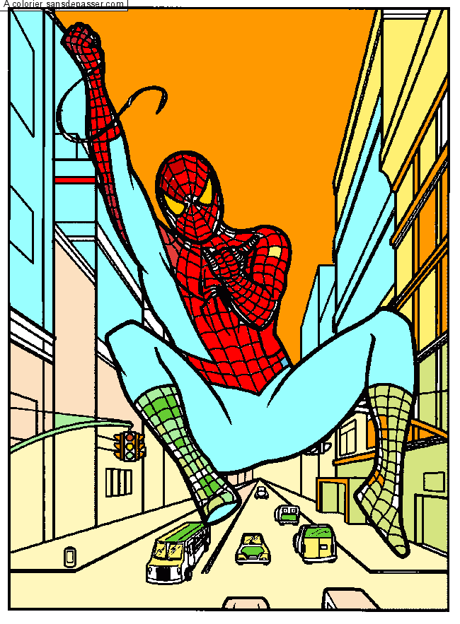 Coloriage masque de spiderman sans d passer - Coloriage spiderman 1 ...