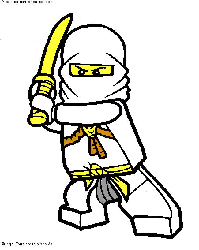 Coloriage zane ninjago sans d passer - Coloriage de ninjago vert ...