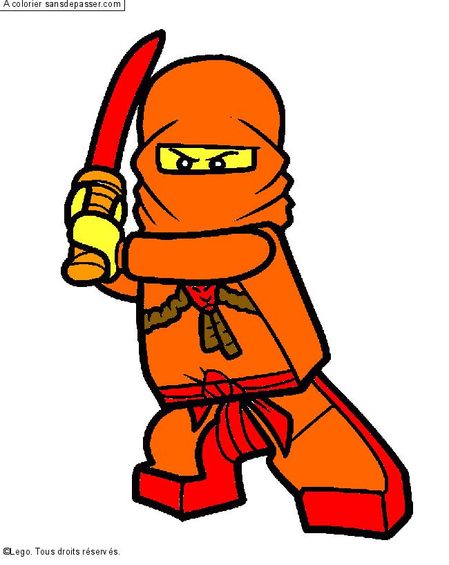 Coloriage zane ninjago sans d passer - Ninjago a imprimer ...