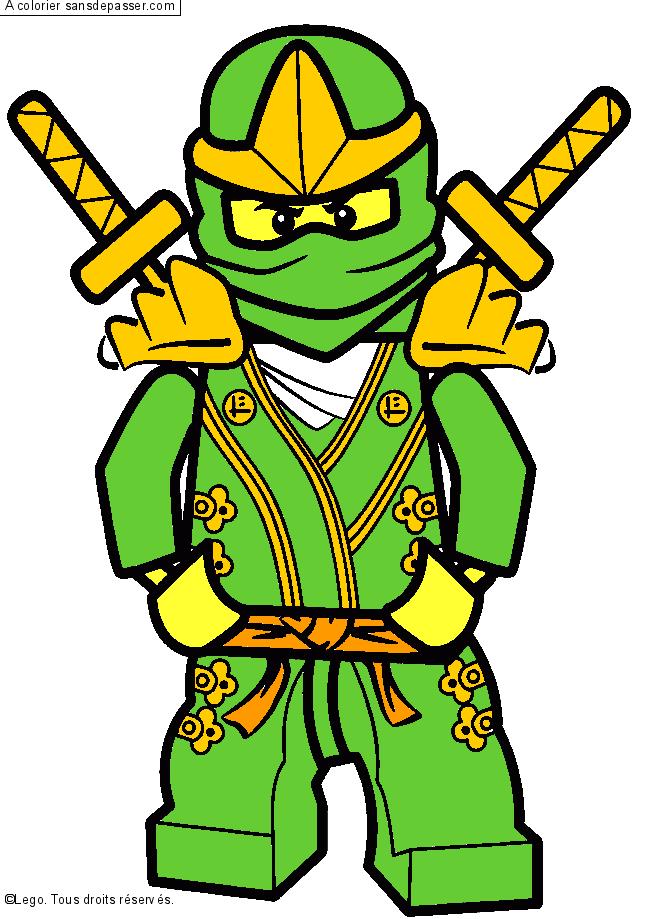Coloriage lloyd ninjago vert sans d passer - Dessin de ninjago a imprimer ...