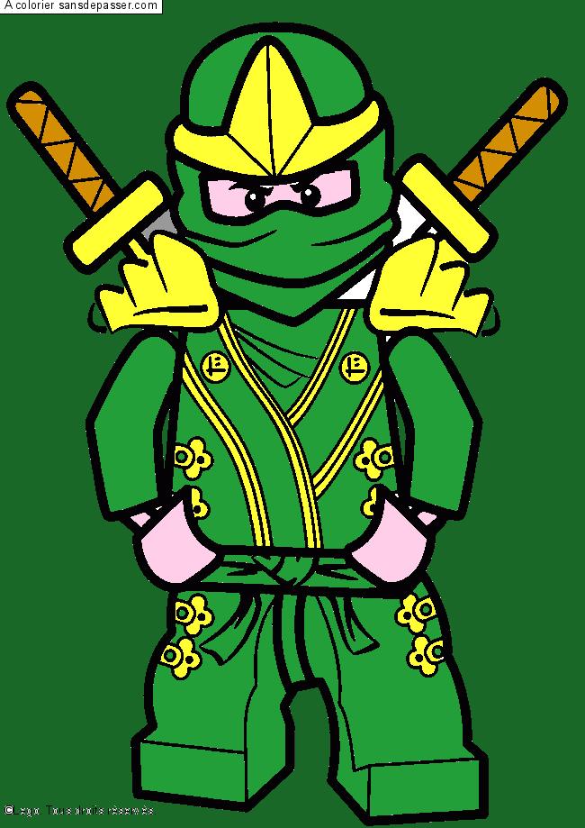 Coloriage lloyd ninjago vert sans d passer - Coloriage de ninjago vert ...