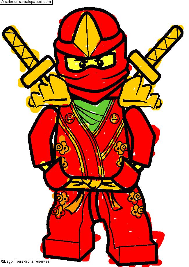 Dessin colorié : Lloyd - Ninjago vert par hasan - Sans ...