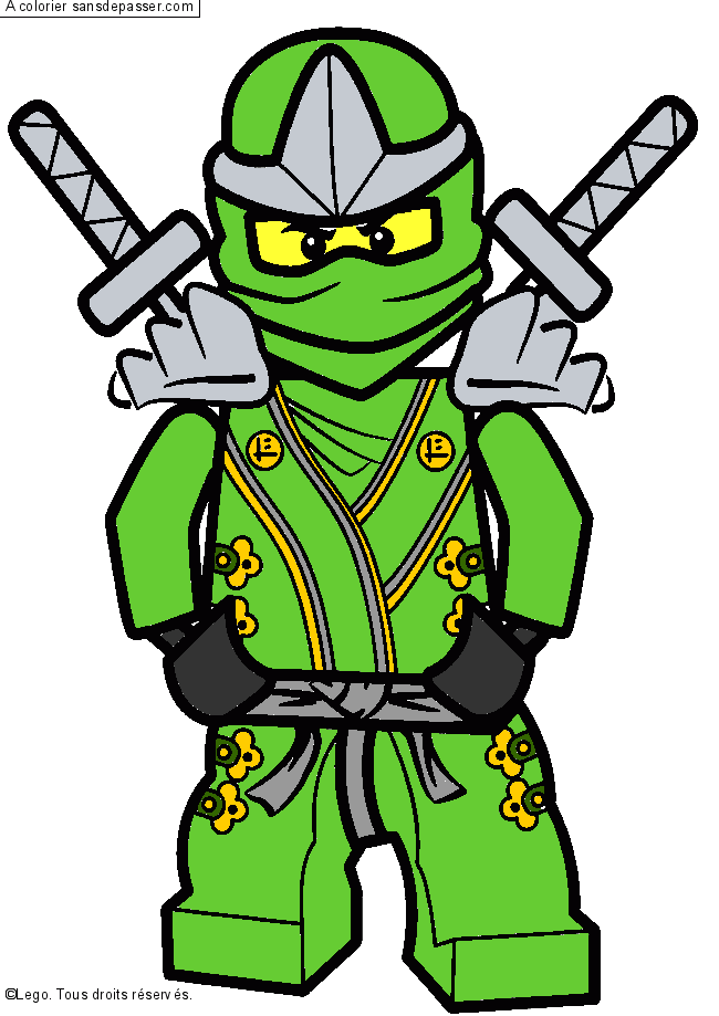 Coloriage ninjago jay coloriage pictures to pin on pinterest - Coloriage Lego Ninjago Vert Pictures To Pin On Pinterest