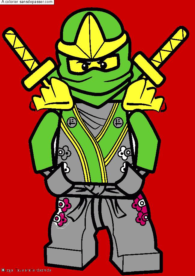 Dessin Colorie Lloyd Ninjago Vert Par Bibou Elias Sans Depasser