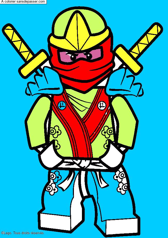 Coloriage Lloyd Ninjago Vert Sans Depasser