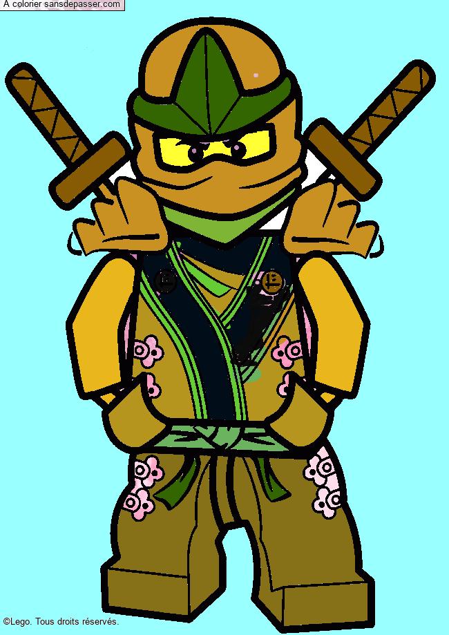 Coloriage Lloyd - Ninjago vert - Sans Dépasser