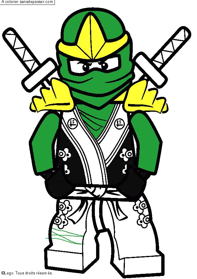 Dessin Colorie Lloyd Ninjago Vert Par Romain Sans Depasser