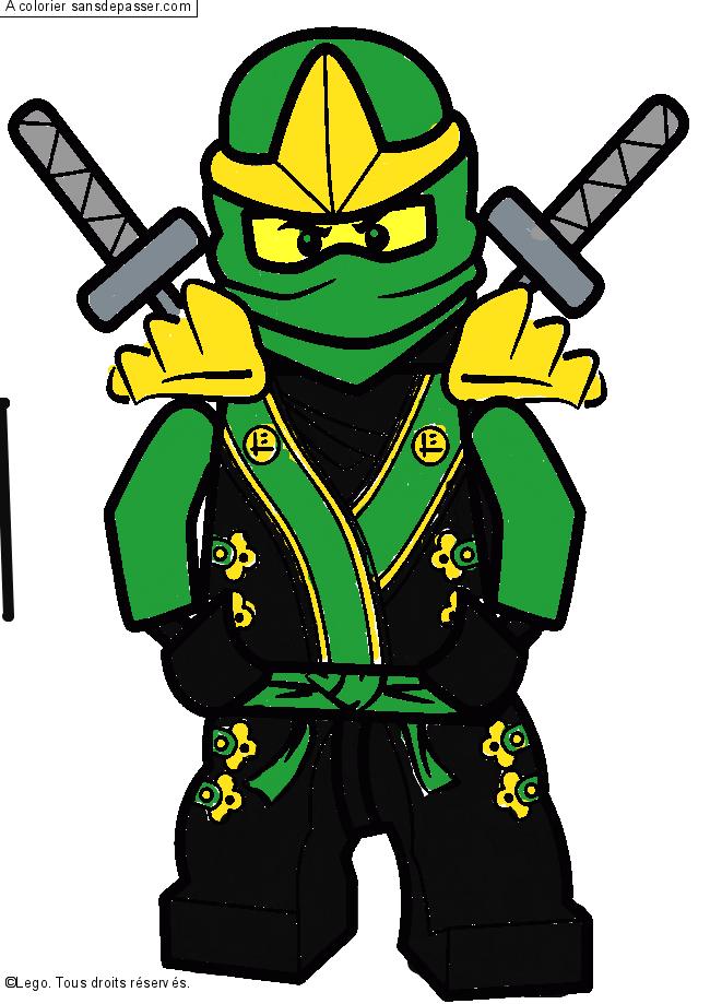 Dessin Colorie Lloyd Ninjago Vert Par Matteo Sans Depasser